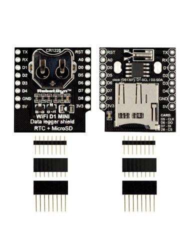 RobotDyn - nakładka RTC + microSD Data Logger Shield WEMOS D1 mini