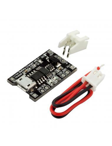RobotDyn - ładowarka baterii microUSB TP4056 z zabezpieczniem Li-Po Li-Ion