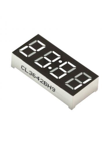 """Wyświetlacz LED 4 cyfry 7-segmentowy biały 0.36"""" dwukropek"""