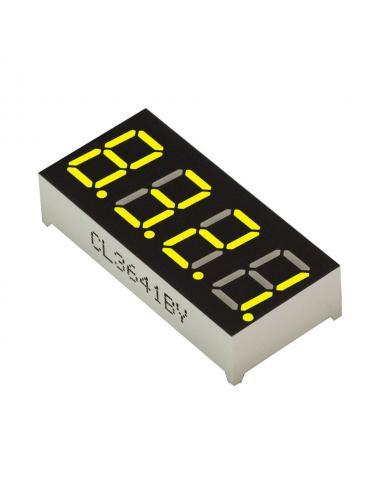 """Wyświetlacz LED 4 cyfry 7-segmentowy żółty 0.56"""" w. anoda"""