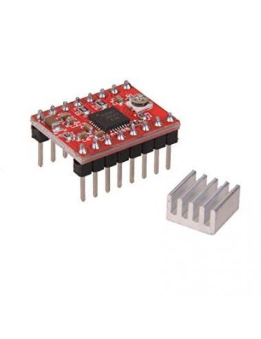 A4988 sterownik silnika krokowego + radiator do drukarki 3D CNC