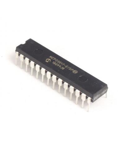 MCP23017 ekspander wyprowadzeń 16-kanałowy I2C DIP28