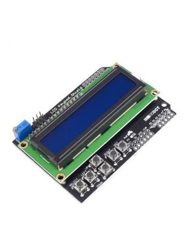 Wyświetlacz LCD z klawiaturą 1602 16x2 Shield Arduino Niebieski