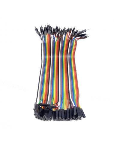 Przewody połączeniowe kable Arduino męsko-żeńskie 10 cm 40 sztuk