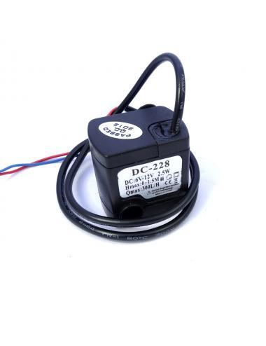 Pompka wody 300l/h cicha praca 12V IP68 6V do 12V