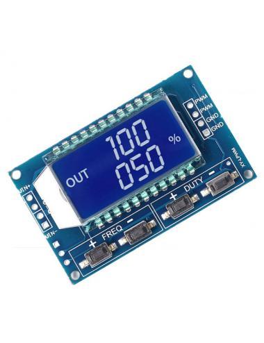 Generator PWM zakres 1Hz - 150kHz 3.3V do 30V TTL LCD XY-LPWM
