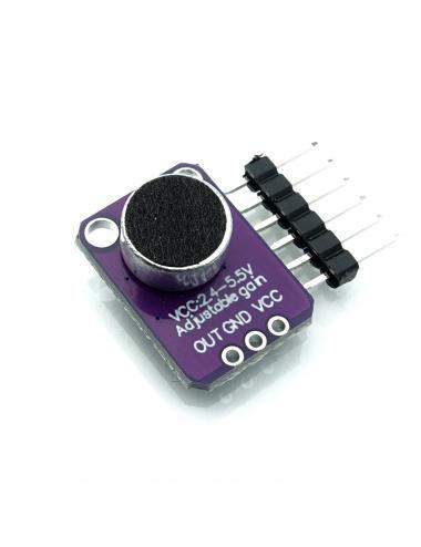 Wzmacniacz mikrofonowy MAX4466 z mikrofonem 20Hz-20kHz
