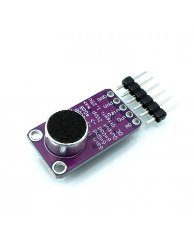 Wzmacniacz mikrofonowy MAX9814 z mikrofonem