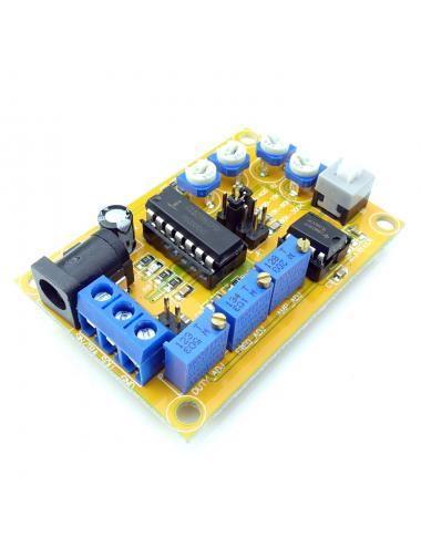 Generator Funkcyjny ICL8038 sinusoida, prostokąt, trójkąt 10Hz - 300KHz