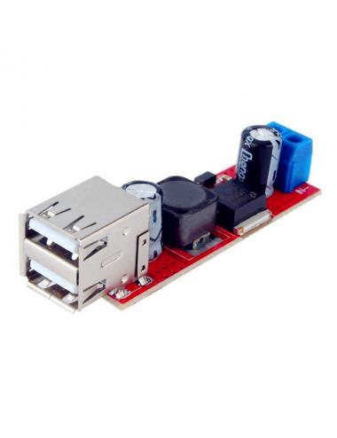 Moduł ładowarki przetwornica LM2596 2x USB 6V-40V na 5V 3A