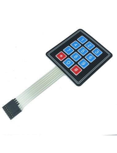 Klawiatura membranowa 4x3 ultra cienka Arduino 12 przycisków