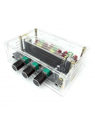 Wzmacniacz audio 2.1 TPA3116 2x80W+100W Xh-M574 w obudowie