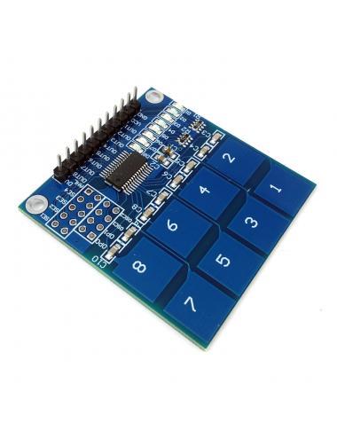 Moduł klawiatura pojemnościowa dotykowa TTP226 8 przycisków
