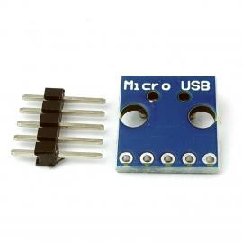 Adapter przejściówka z micro USB na DIP gniazdo microUSB typ B
