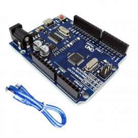 Arduino UNO R3 Atmel ATMega328 klon microUSB + kabel