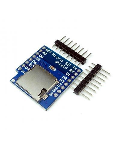 Shield Wemos D1 mini czytnik kart microSD nakładka