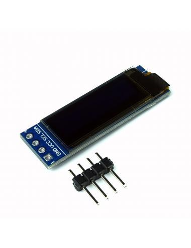 """Wyświetlacz OLED 128x32 0,91"""" niebieski I2C SSD1306"""