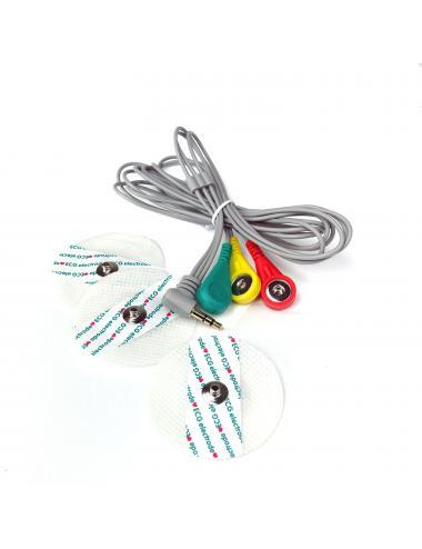 3 elektrody EKG na przewodzie do modułu AD8232
