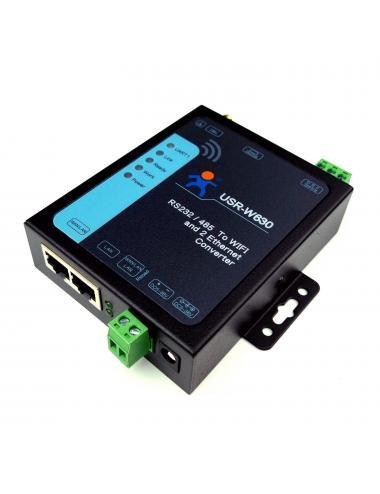 Konwerter RS232 RS485 na WiFi USR-W630 zestaw