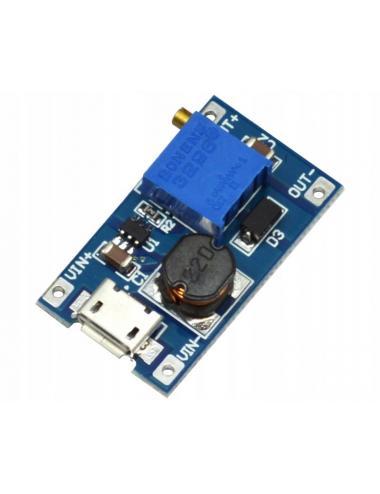 Przetwornica z micro USB MT3608 4-28V 2A step-up regulacja