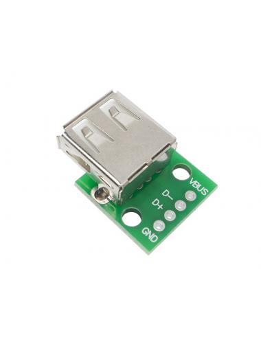 Adapter przejściówka z USB na DIP gniazdo USB typ A żeńskie