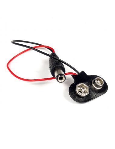Adapter zatrzask gniazdo baterii 9V 6F22 wtyk DC 2.1/5.5